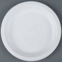 EcoChoice Biodegradable, Compostable Sugarcane / Bagasse 7 inch Plate - 125 / Pack
