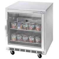 Beverage Air UCF27A-25 Glass Door Undercounter Freezer - 7.3 cu. ft.