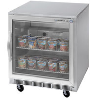 Beverage Air UCF27A-25 27 inch Undercounter Freezer with Glass Door - 7.3 Cu. Ft.