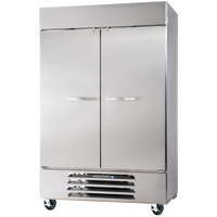 Beverage Air HBR44-1-S 47 inch Horizon Series Two Section Solid Door Reach in Refrigerator - 44 Cu. Ft.