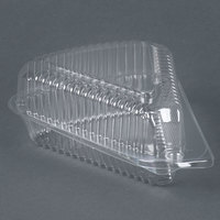 Par-Pak 03200 5 3/8 inch x 4 3/8 inch x 2 1/2 inch Clear OPS Wedge Single-Slice Pie Container with Shallow Dome Lid - 20/Pack