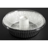 D&W Fine Pack D62 10 inch Aluminum Foil Angel Food Pan with Clear Dome Lid 100/Case