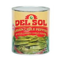 Del Sol Whole Green Chiles 6 - #10 Cans / Case