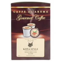 Caffe de Aroma Kona Style Coffee Single Serve Cups - 24/Box