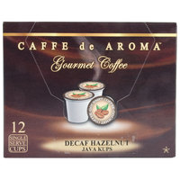Caffe de Aroma Decaf Hazelnut Coffee Single Serve Cups - 12/Box
