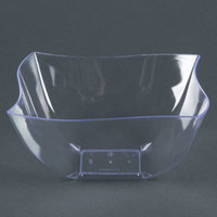 Fineline Wavetrends / Tiny Temptations 116-CL 16 oz. Clear Plastic Bowl - 4 / Pack