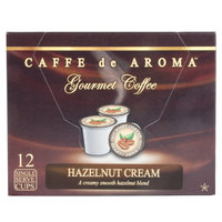 Caffe de Aroma Hazelnut Coffee Single Serve Cups   - 12/Box