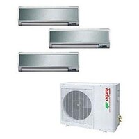 Turbo Air 36,000 BTU Ductless Wall Mounted Multi-Zone Air Conditioner / Heat Pump with Three Indoor Evaporators