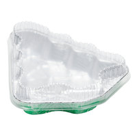 Durable Packaging 9501X-C50 X-Mas Tree Foil Pan and Plastic Lid Combo Kit - 10 / Pack
