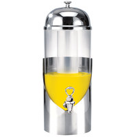 Eastern Tabletop 7805 Modern 5 Gallon Stainless Steel Round Beverage Dispenser with Acrylic Container