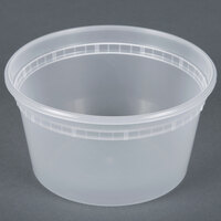 Newspring DELItainer L5012Y 12 oz. Translucent Round Deli Container - 480 / Case