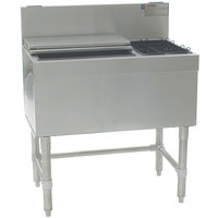 Eagle Group BCT42R-19 Spec-Bar 19 inch x 42 inch Combination Ice Chest with Right Hand Bottle Rack