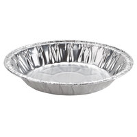Baker's Mark 6 inch x 15/16 inch Medium Depth Foil Pie Pan - 100/Pack