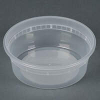 8 oz. Microwavable Translucent Plastic Deli Container - 480 / Case