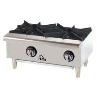 Star Max 603HWF 36 inch 3-Burner Countertop Range / Gas Hot Plate - 75,000 BTU