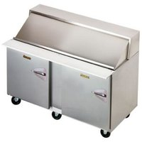 Traulsen UPT6024-LL 60 inch Sandwich / Salad Prep Refrigerator with Two Left Hinged Doors