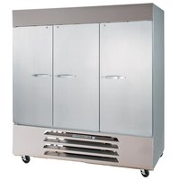 Beverage-Air HBF72-1-HS 75 inch Bottom Mount Horizon Series Three Section Half Door Reach In Freezer - 72 cu. ft.
