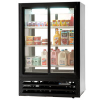 Beverage Air LV15-1-B-54-HD-LED Black LumaVue 4 Hinged Glass Door Refrigerated Pass-Through Merchandiser - 15 Cu. Ft.