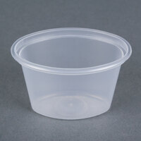 Newspring E1001 ELLIPSO 1 oz. Clear Oval Plastic Souffle / Portion Cup - 50/Pack