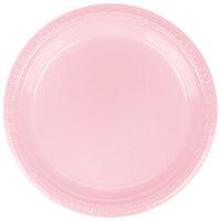 Creative Converting 28158021 9 inch Classic Pink Plastic Plate - 240 / Case