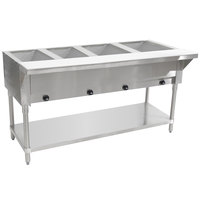 Advance Tabco HF-4G Four Pan Gas Powered Hot Food Table - Open Well