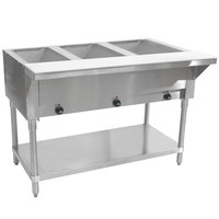 Advance Tabco SW-3E Three Pan Electric Hot Food Table with Undershelf - Sealed Well, 120V