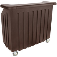 Cambro BAR540131 Dark Brown Cambar 54 inch Portable Bar with 5-Bottle Speed Rail