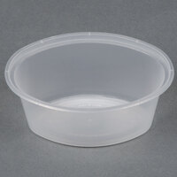 Newspring E1003 ELLIPSO 3 oz. Clear Oval Plastic Souffle / Portion Cup - 100/Pack