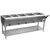 Advance Tabco SW-5E Five Pan Electric Hot Food Table with Undershelf - Sealed Well
