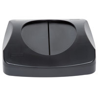 Rubbermaid FG268988BLA Black Square Untouchable Trash Can Lid