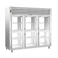 Traulsen AHT332NPUT-HHG 73.1 Cu. Ft. Three Section Glass Half Door Narrow Pass-Through Refrigerator - Specification Line