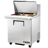 True TSSU-27-12M-B 27 inch Mega Top 1 Door Sandwich / Salad Prep Refrigerator