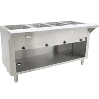 Advance Tabco HF-4E-BS Four Pan Electric Hot Food Table with Enclosed Base - Open Well, 120V