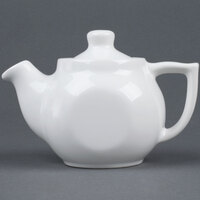 Tuxton BWT-18A DuraTux White 18 oz. Tea Pot With Lid - 12 / Case