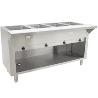 Advance Tabco SW-4E-BS Four Pan Electric Hot Food Table with Enclosed Base - Sealed Well, 208/240V