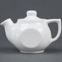 Tuxton BWT-10A DuraTux White 10 oz. Tea Pot With Lid - 12 / Case