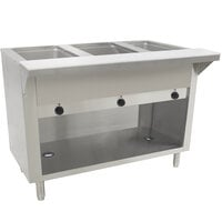 Advance Tabco SW-3E-BS Three Pan Electric Hot Food Table with Enclosed Base - Sealed Well