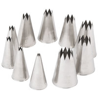Ateco 830 10-Piece Stainless Steel Open Star Pastry Tube Decorating Set (August Thomsen)