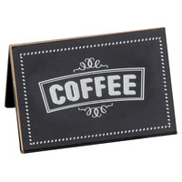Cal-Mil 3047-1 3 inch x 2 inch Chalkboard Beverage Sign with Coffee Print
