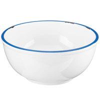 Cal-Mil 3343-8-15 White Enamelware 55 oz. Melamine Bowl - 8 1/4 inch x 3 3/4 inch