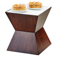 Cal Mil 3029-57L Espresso Riser with Underlit Frosted Top - 12 inch x 12 inch x 12 inch