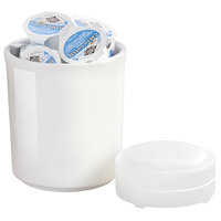 Cal-Mil 3050-32 32 oz. White Melamine Jar with Cold Puck - 5 inch x 5 1/2 inch