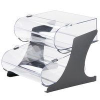 Cal-Mil 3397-2-13 2-Tier Black Round Nose Bin Bakery Display