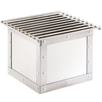 Cal-Mil 3407-55 Urban Stainless Steel Chafer Alternative - 12 inch x 12 inch x 8 1/4 inch