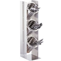 Cal-Mil 3411-55 Urban 3 Cylinder Stainless Steel Flatware / Condiment Stand