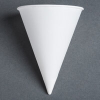 Dart Solo 10R-2050 Bare Eco-Forward 10 oz. White Rolled Rim Paper Cone Cup with Chipboard Box Packaging - 250 / Pack