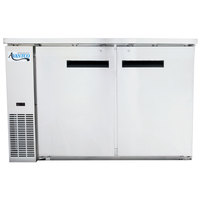 Avantco UBB-24-60S 60 inch Narrow Solid Door Stainless Steel Back Bar Cooler with LED Lighting