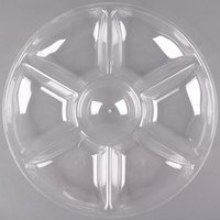 Fineline Platter Pleasers 3507-CL 14 inch 7 Compartment Clear Polystyrene Deli / Catering Tray