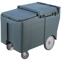 Cambro ICS125LB191 Granite Gray Sliding Lid Portable Ice Bin - 125 lb. Capacity
