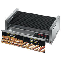 Star Grill-Max Pro 75STBDE 75 Hot Dog Roller Grill with Bun Drawer, Electronic Controls, and StalTek Non-Stick Rollers